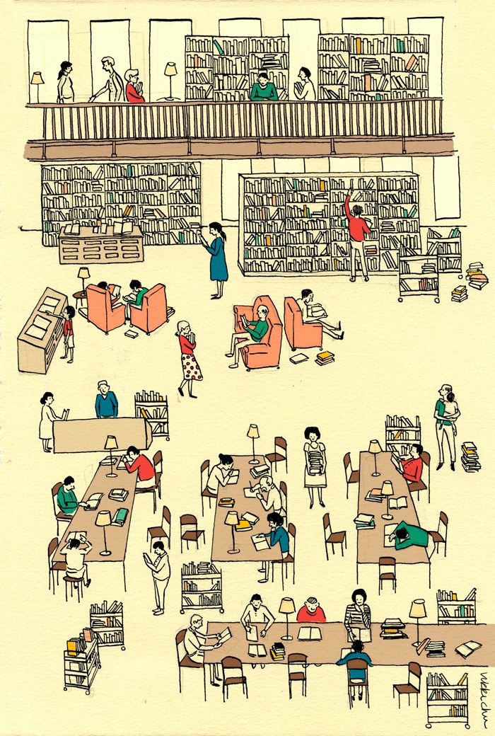 The romance of the public library
