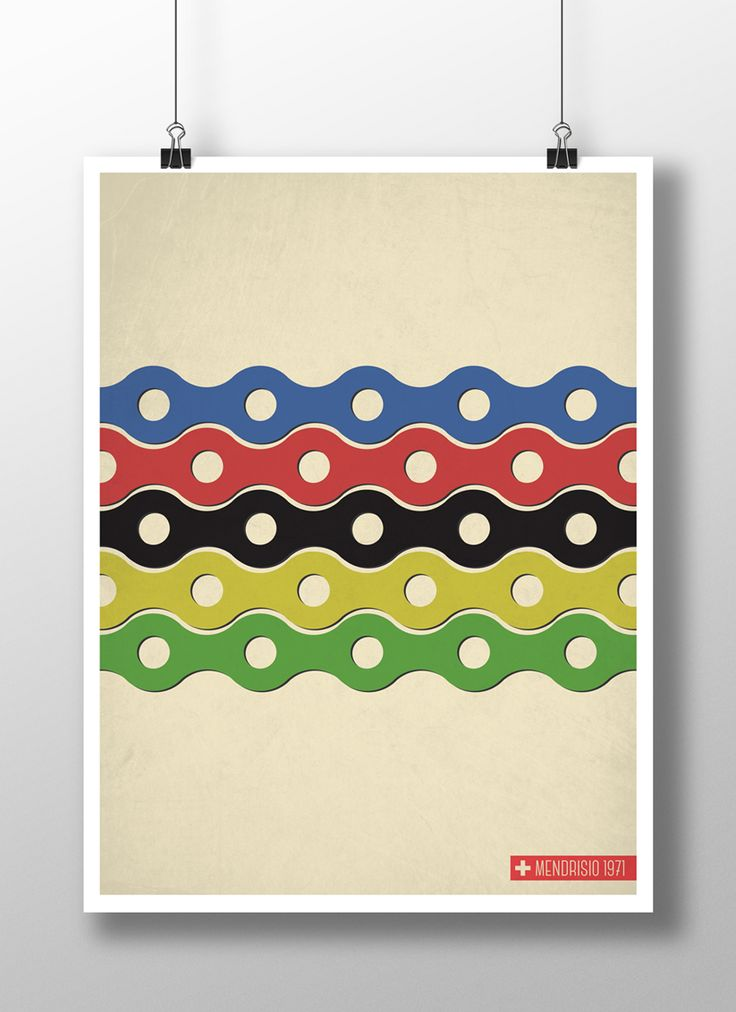 UCI Road World Championship, Mendrisio 1971, faux vintage poster.  Final version that went to print.