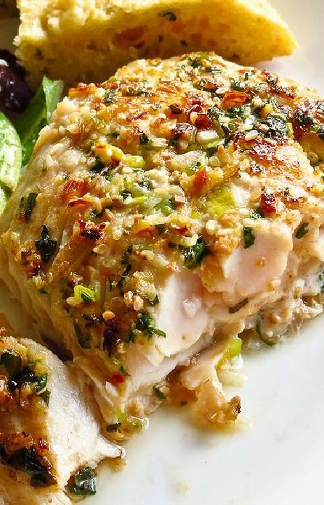 Low FODMAP and Gluten Free Recipe - Herb crusted trout or salmon (Update) - http://www.ibssano.com/low_fodmap_recipe_herb_crusted_trout.html