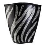 14 in. H Zebra Print Decorative Vase, Multi