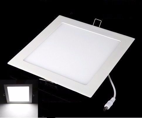 8 painéis plafon embutir led slim quadrado 24w branco frio