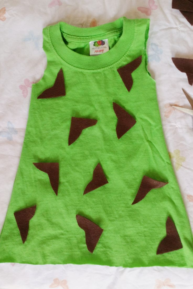 diy toddler pebbles flintstone halloween costume - Halloween Flintstones