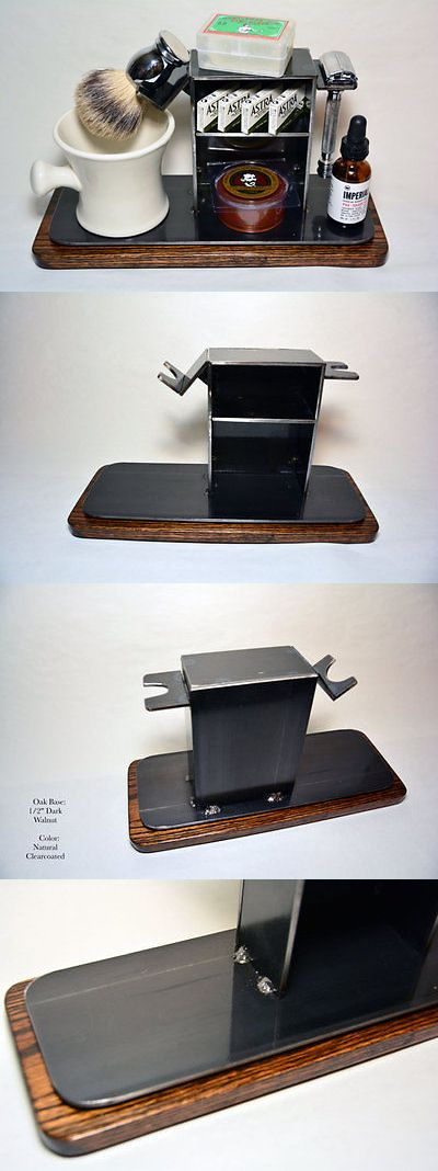 Shaving and Grooming Kits and Sets: Shaving Stand For De Razor, Shaving Brush, Mug, And Accessories, 4 Base BUY IT NOW ONLY: $95.0