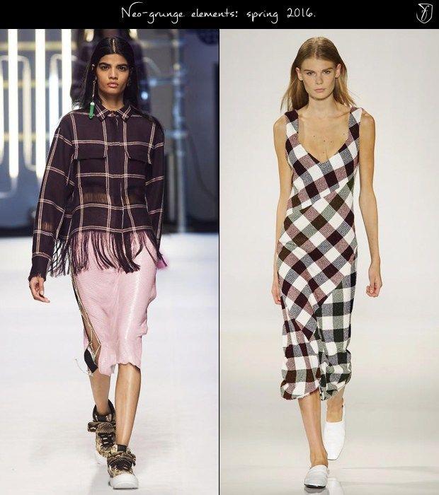 Нео-гранж тенденции моды на весну 2016 года