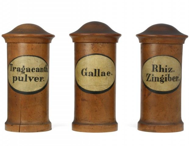 Antique German Apothecary Jars. 1750