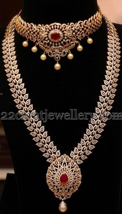 Jewellery Designs: Unique Diamond Haar and Choker