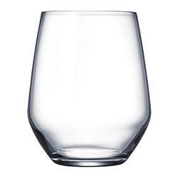 Glasets stora runda kupa gör att du också kan använda det som ett rödvinsglas utan fot, då formen gör att vinets dofter och smaker utvecklas bättre.