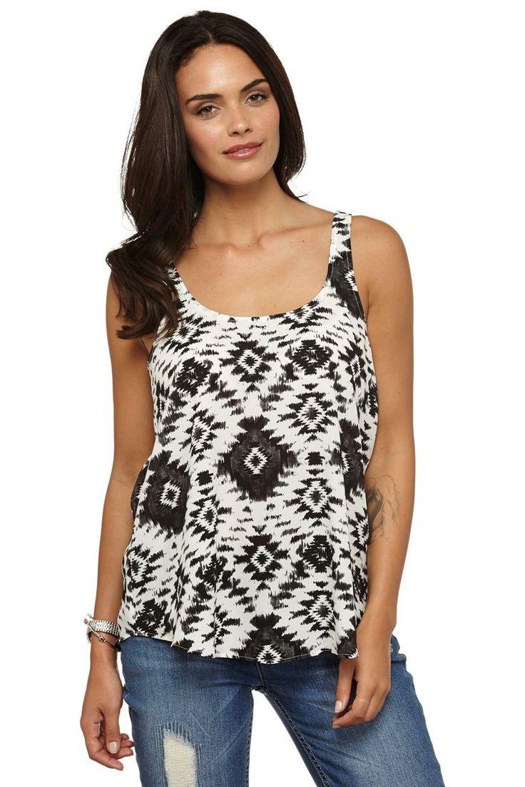 melissa s/l woven tank | Cotton On