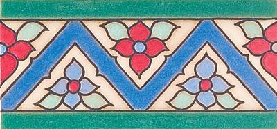 "New Zig Zag Floweer, 3X6"" Decorative Border"