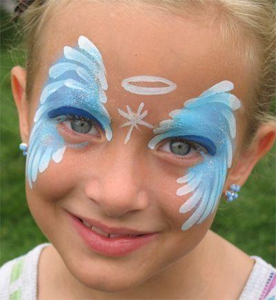 Trucco viso per carnevale per bambini angelo