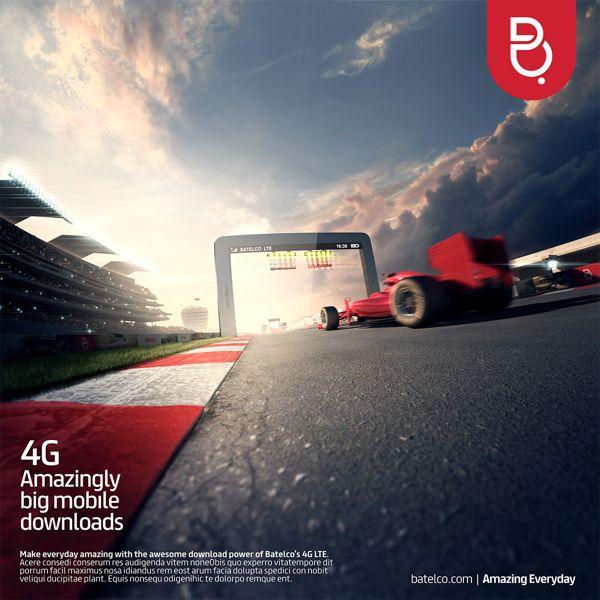 4G LTE from Batelco : promotional illustrations. by Aleksei Segodin, via Behance