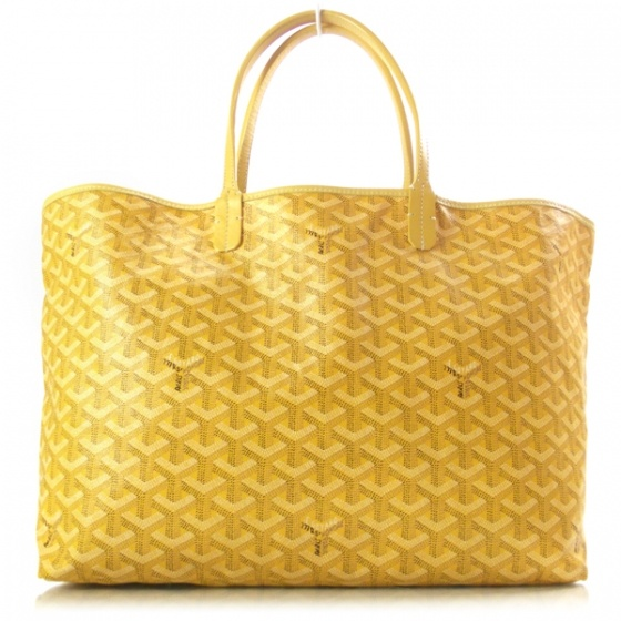dream bag; goyard tote in yellow