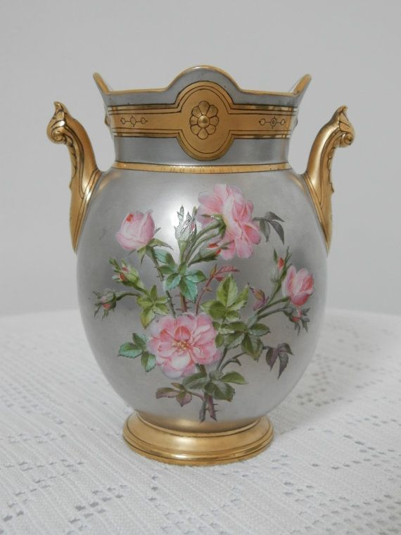 Antique French Paris Porcelain Vase.
