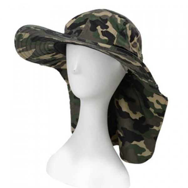 Stylish Camouflage Pattern Sun-Resistant Drawstring Men's Bucket Hat #CLICK! #clothing, #shoes, #jewelry, #women, #men, #hats, #watches