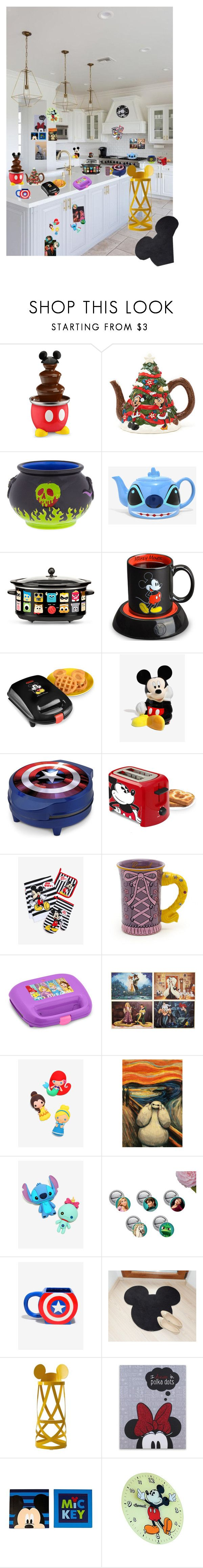 """Disney Kitchen"" by gailgoo ❤ liked on Polyvore featuring interior, interiors, interior design, home, home decor, interior decorating, Disney, Marvel, Cappellini and kitchen"