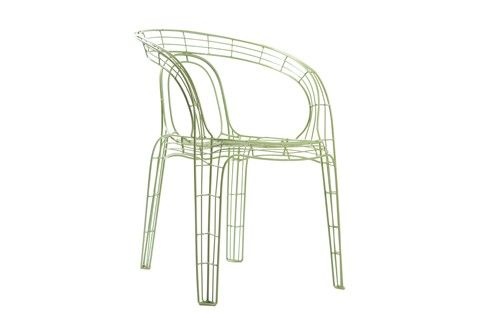 Metal Framed Green Chair by Zuiver / Product available on HomeLovers.pl