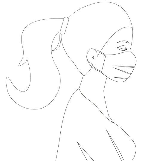 Crazy Cow with a Face Mask Coloring Page: Coloring Buddy