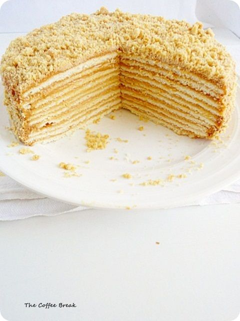 Russian Walnut and Honey Cake (Medovik) (Would be great for Rosh Hashana with a pareve filling, and peanuts instead of walnuts, which are not eaten on Rosh Hashana.)