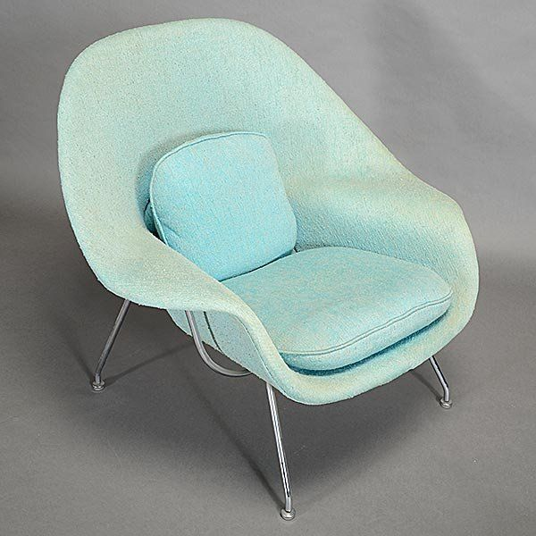 eero saarinen knoll womb chair and ottoman lot 396