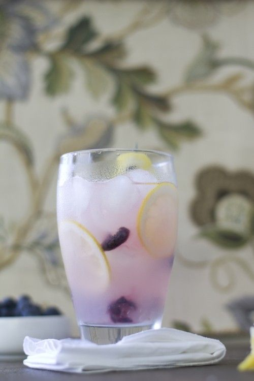 Lemon Blueberry Cooler...add some fruity flavored vodka (raspberry/blueberry/strawberry), and ya got yourself a really yummy adult drink