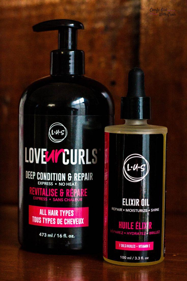 Love Ur Curls Deep Conditioner & Elixir Oil Review LUS
