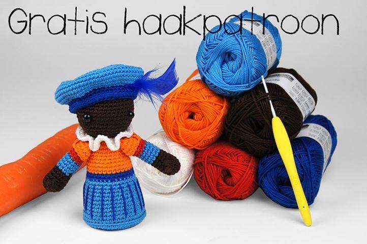 Zwart Pietje, gevonden op : http://www.gbrouwer.nl/nieuws/gratis-haakpatroon-zwarte-piet-van-christel-krukkert_309.html   Site & pattern are in Dutch.
