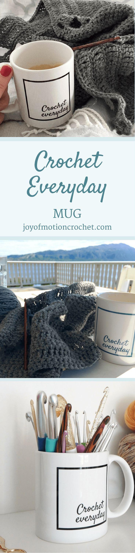 crochet everyday mug | crochet mug | crochet cup | crochet everyday | crochet mug for tea | crochet coffee cup via @http://pinterest.com/joyofmotion/