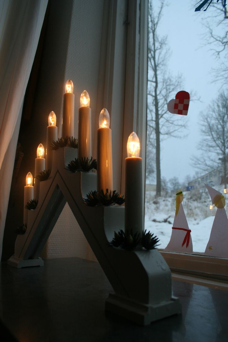 Swedish christmas candles...in every Swedish window all during the winter season which is long and dark
