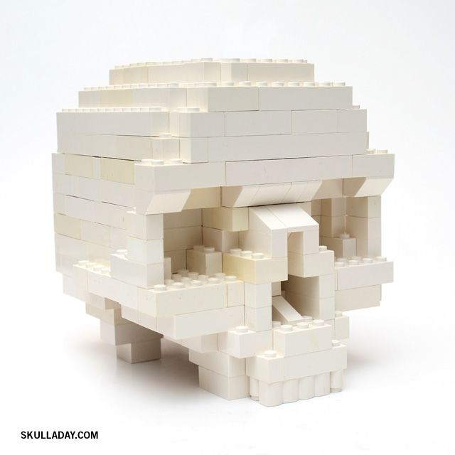 DIY Lego Skull Tutorial from Clay Morrow at Skull a Day. You can download very detailed lego instructions at the link.