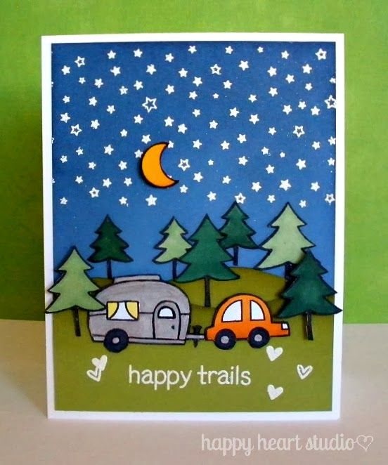 Lawn Fawn - Happy Trails, Starry Backdrops _ Happy Heart Studio: Lots of Lawn Fawn Fun