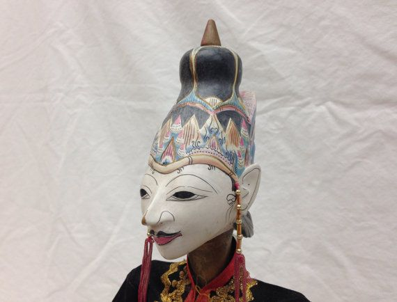 Wayang Golek Puppet from Java by EthnicArtandJewelry on Etsy, $59.95