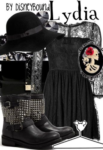 Disney Bound- I'm not Goth but this would look so cute!