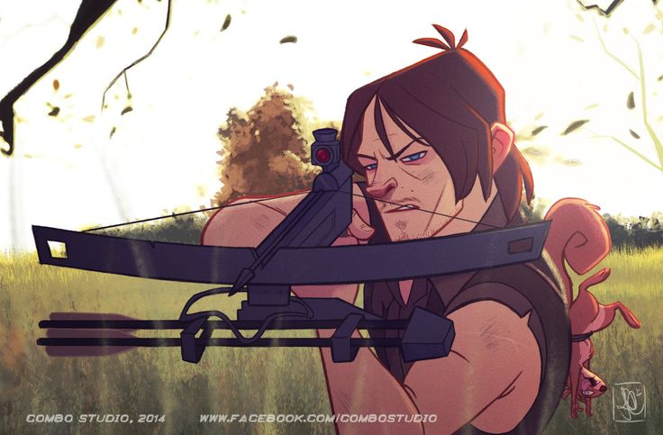 Daryl Dixon by nandomendonssa on deviantART. Fuckin nailed it. I never realized Daryl has all the hallmarks of a Disney villain until I saw him in this format. I guess all of the main characters might look like villains now though.