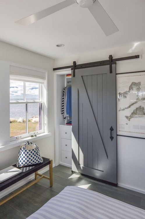 Hutker Architects | sliding barn door used for closet