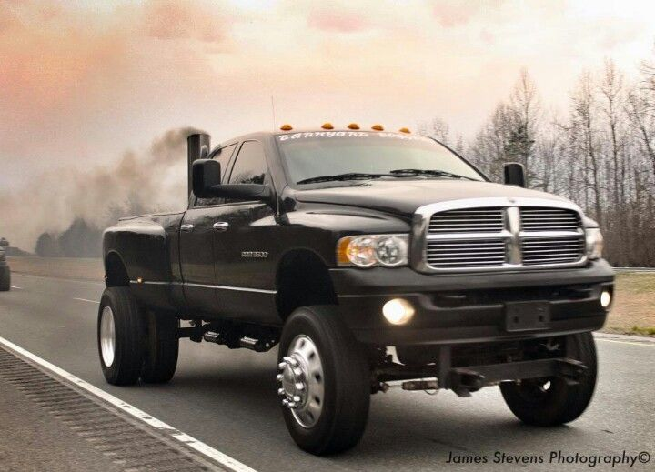black lifted dodge ram truck Cummings diesel