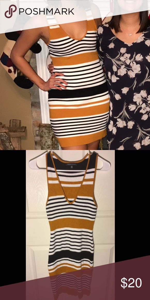 Kendall & Kylie dress Very flattering with a V cut neckline, not too deep. Worn once, price reflects Kendall & Kylie Dresses