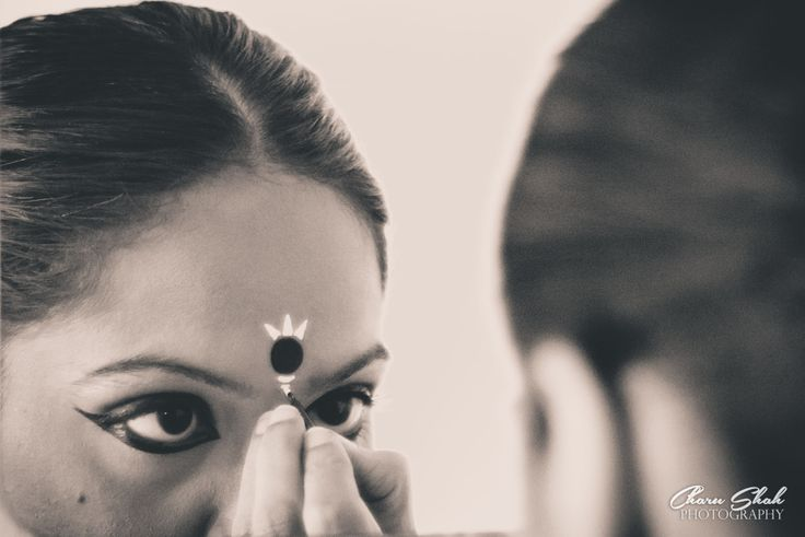 Odissi dancer backstage