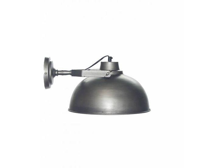 Urban Interiors Wandlamp industrieel metaal - Vintage grijs - 30 cm