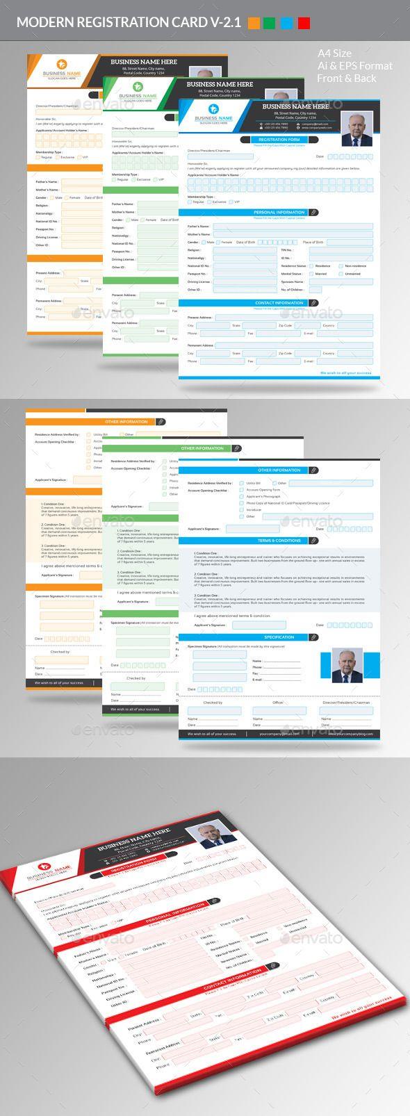 Modern Registration Form V2.1 — Vector EPS #look #orange • Available here → https://graphicriver.net/item/modern-registration-form-v21/11183584?ref=pxcr