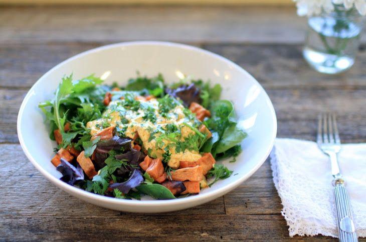 Turmeric Yogurt Dressing (Recipe) Recipe Salads with yoghurt, olive oil, garlic, ground turmeric, cracked black pepper