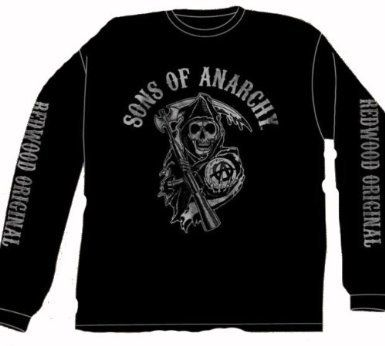 Sons Of Anarchy Fear The Reaper Long Sleeve Black T-Shirt $19.99
