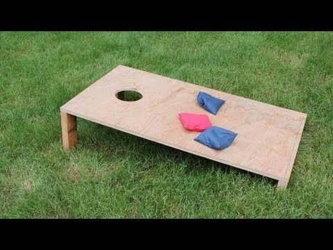 Easy how to make a simple corn hole / corn toss game by Jon Peters - YouTube