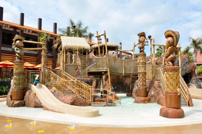 MouseSteps - Kiki Tikis Splash Play Opens at Disney's Polynesian Village Resort: Photos & Video of New Water Play Area