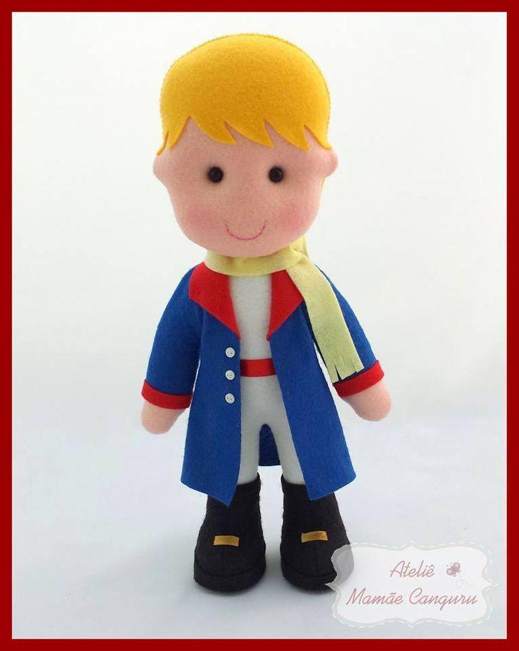 Pequeno príncipe em feltro 1