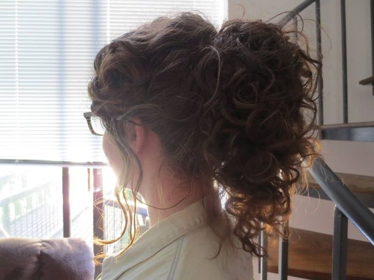 Hairstyles For Curly Hair Tied Up : Best 20 curly hair ponytail ideas on pinterest