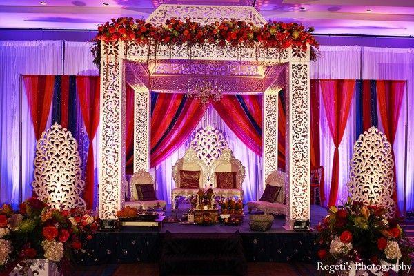 ceremony, mandap, chuppah, indian wedding decor, wedding design, wedding planning, south asian bride