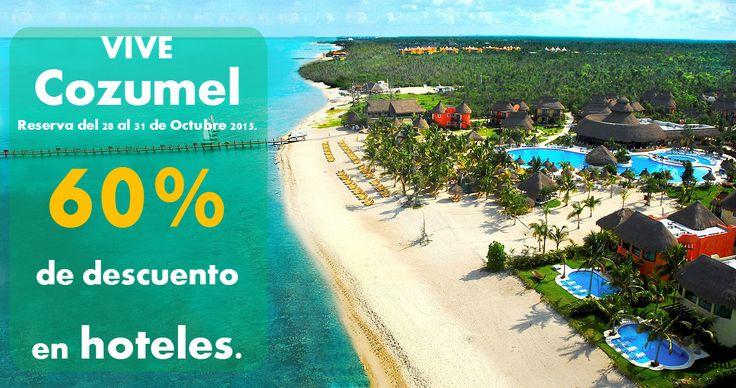 ¿Sabías que #Cozumel es la isla más grande y poblada del Caribe Méxicano? Reserva tus vacaciones en esta isla y aprovecha nuestras promociones de #MesesSinIntereses. Lada sin costo. 01 800 141 0016