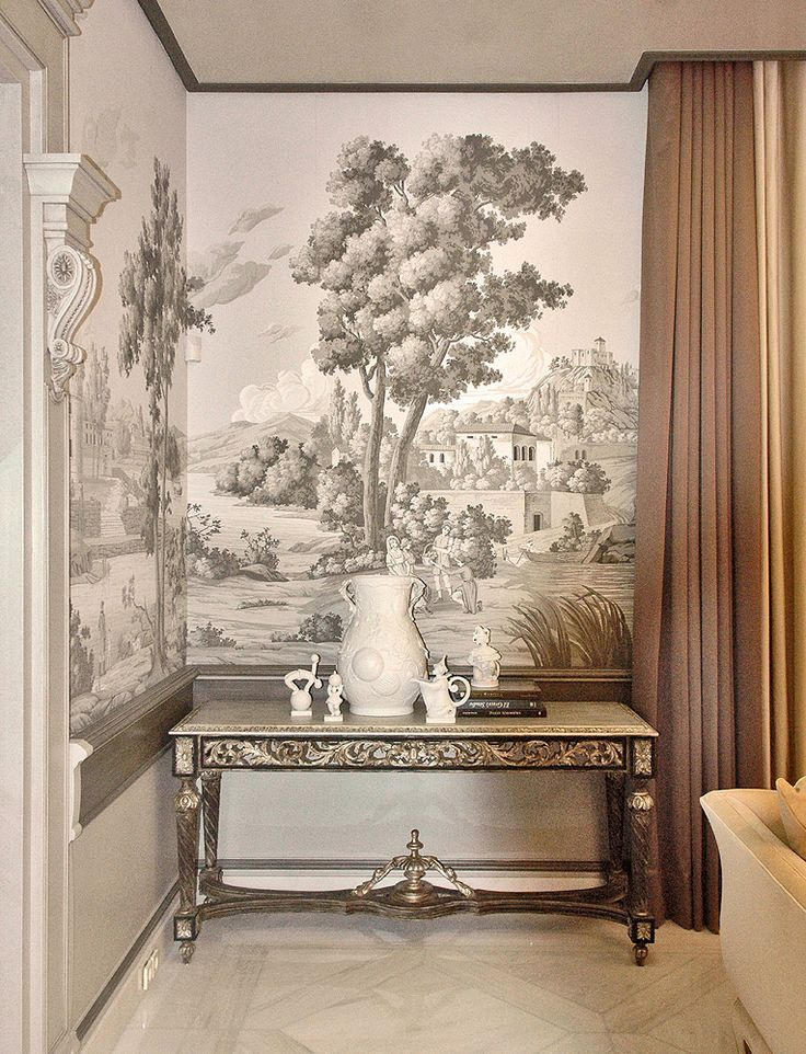 148 best grisaille art walls images on pinterest wall - Grisaille wallpaper ...