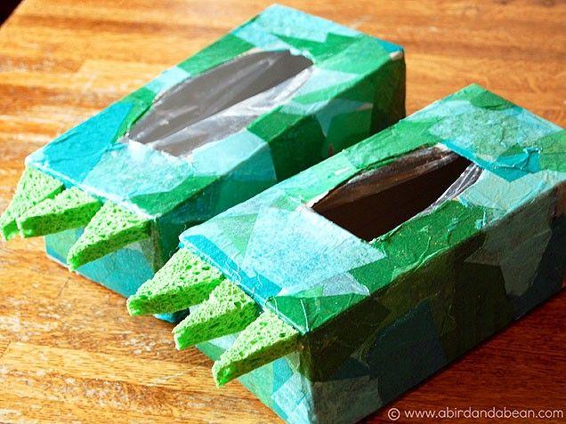 Dinosaur Feet -- Kids Crafts to Make With a Cardboard Box
