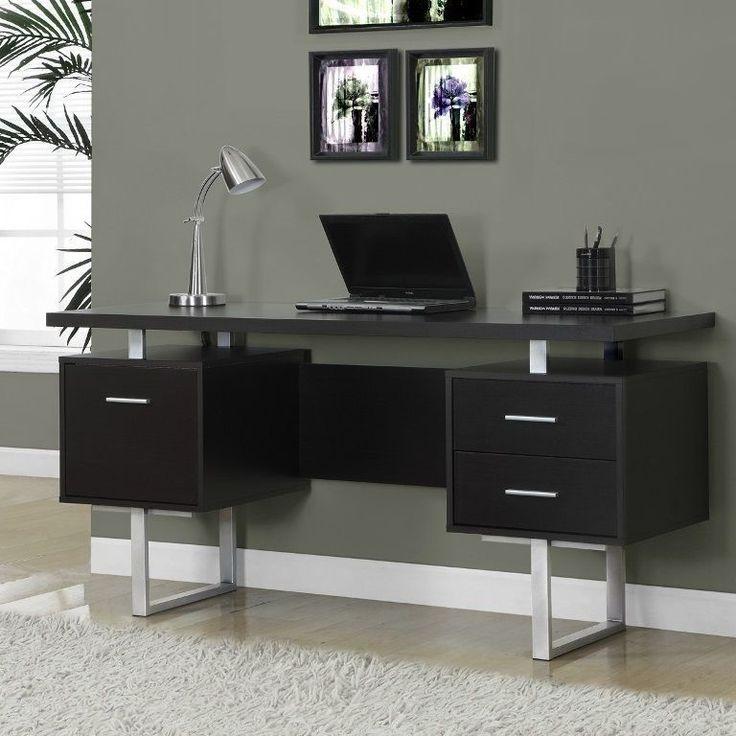 Computer Desks For Home Office Wooden Storage Drawers Metal Modern Work Station  #ComputerDesksForHomeOffice #ModernContemporary